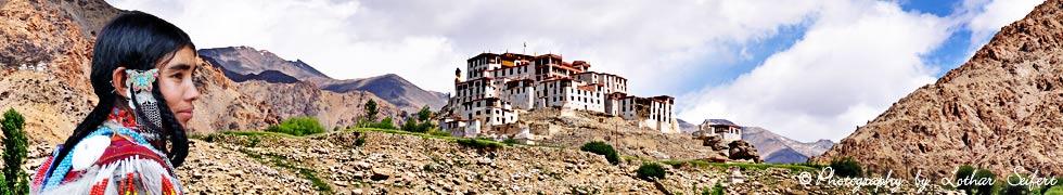 Leh, die Hauptstadt von Ladakh in Kashmir im Himalaya