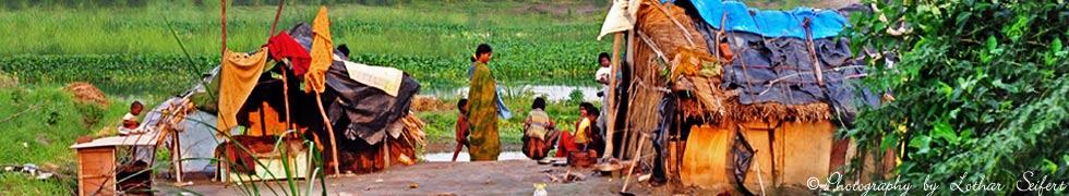 Im Tibetan Refugee Camp Majnu ka Tila Delhi in Indien. Neu-Delhi, die Hauptstadt von Indien