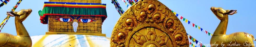 Boudha Stupa in Kathmandu, die gro�e Bodnath oder Boudnath Stupa